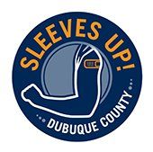 Sleeves Up! Dubuque County Logo