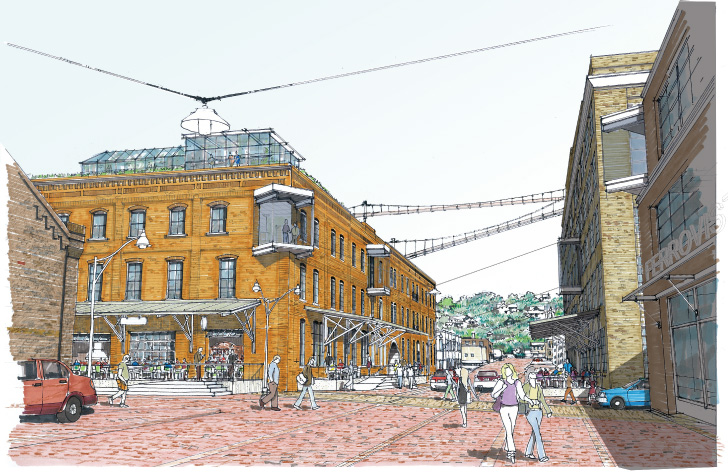 Artist rendering of 10th Street