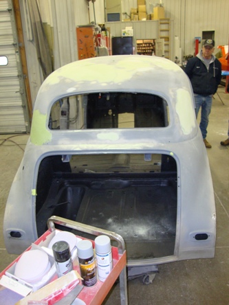 Body work and the protective coating viewed from the back.