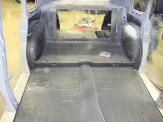 The interior floorboard was also coated.