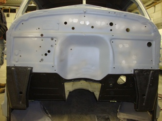 Undercoating viewed from the front.