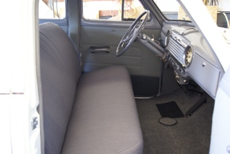 The front seat and new carpet.