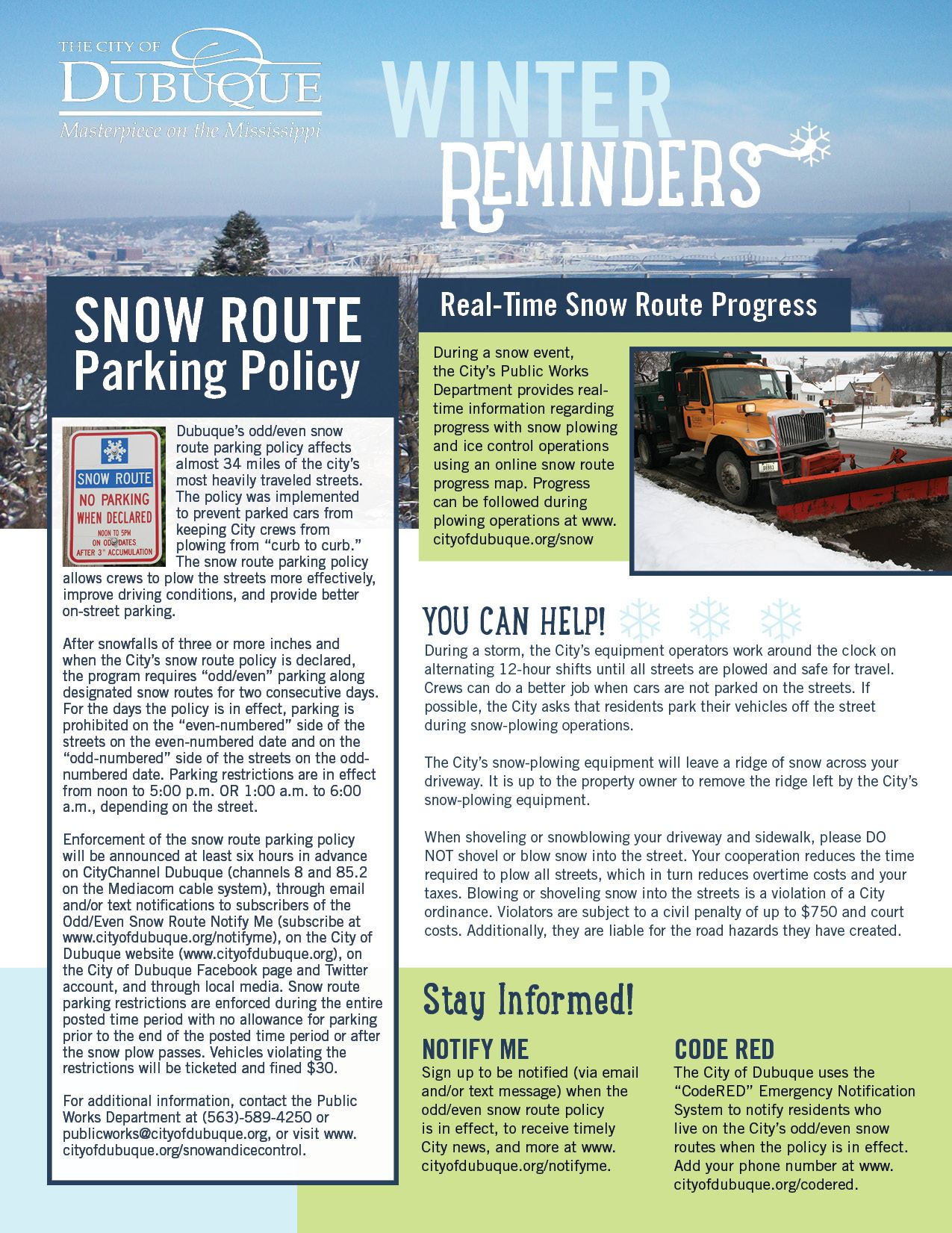Winter Reminders Flyer