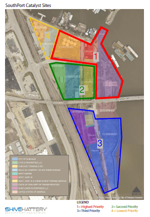 South Port Sites Map