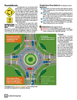 Iowa Driver's Manual Info on Roundabouts