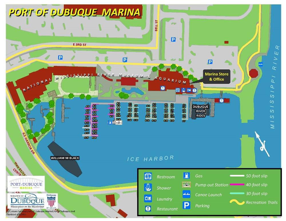 Port Of Dubuque Marina Map