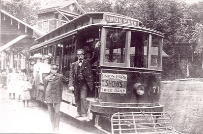 A 33 minute Trolley trip to Union Park was a popular destination for concerts, picnics, and other activities. The last streetcar ran on July 24, 1932.