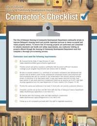 Contractor Check List Thumbnail