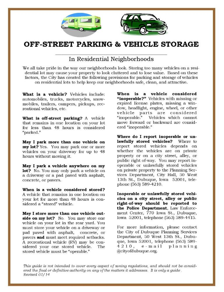 Off-Street Parking Requirements