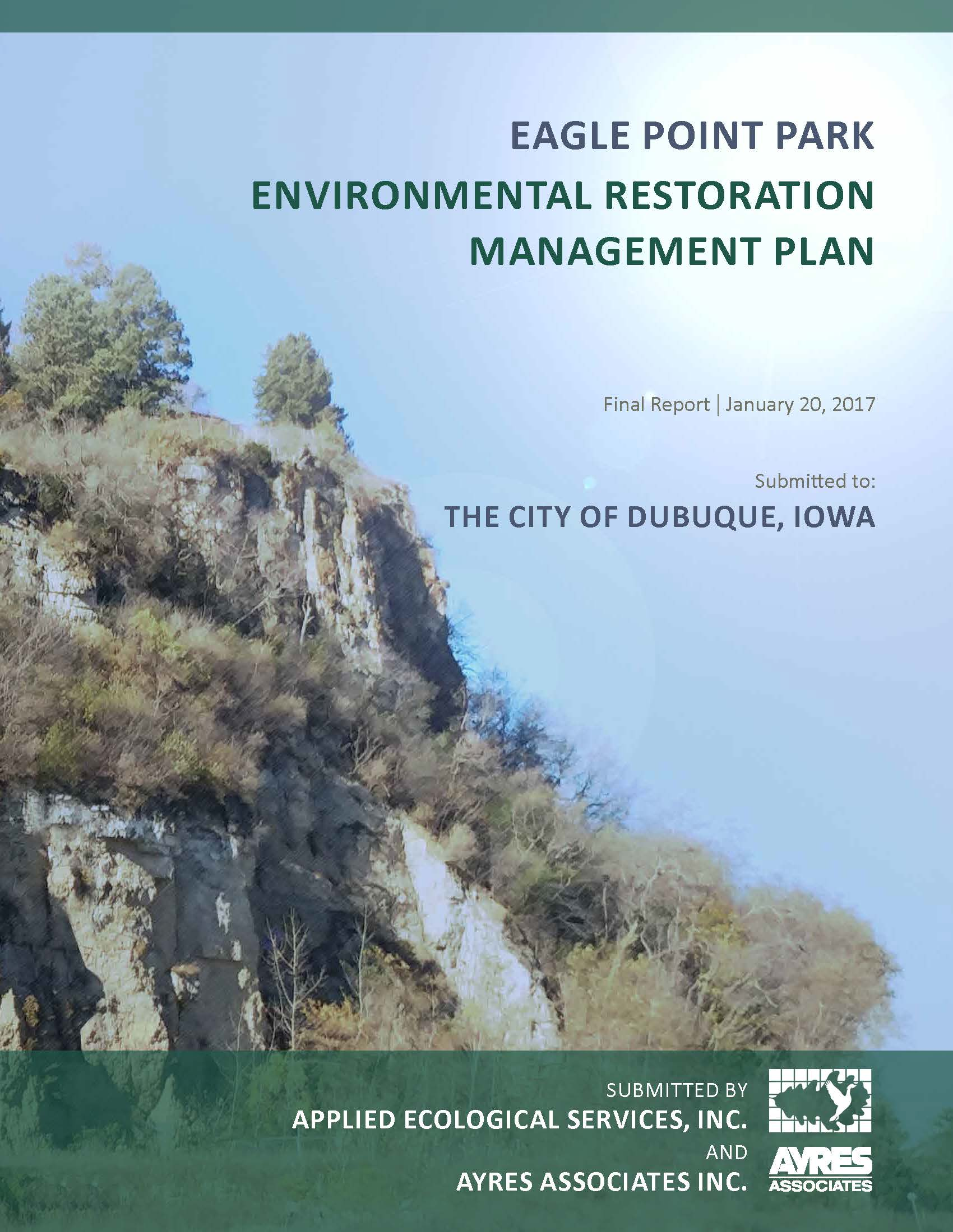 Environmental Restoration Mgmt Plan Cover