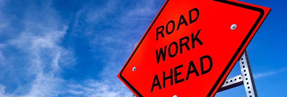 Road Work Ahead detours header