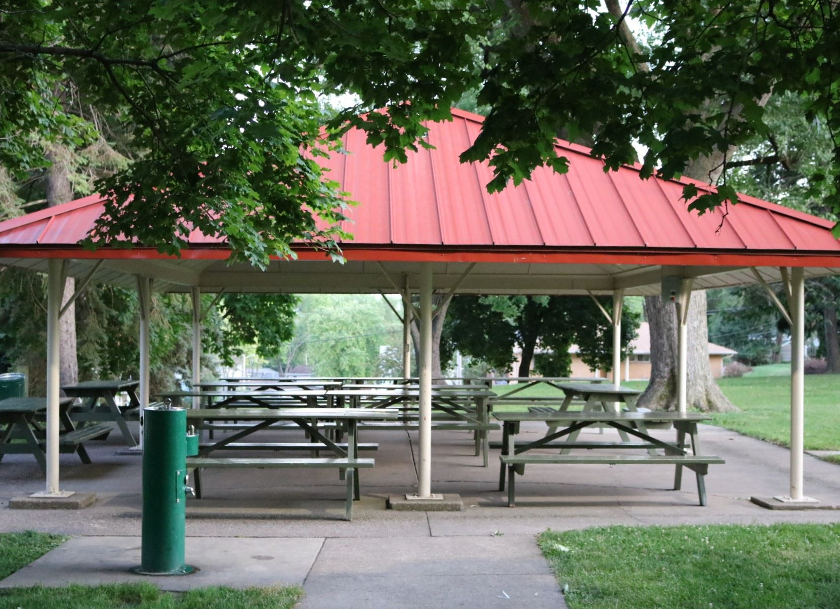 Open Air Pennsylvania seating: 70 people; price: $70.00. 15 amp electricity, water fountain, barbecu
