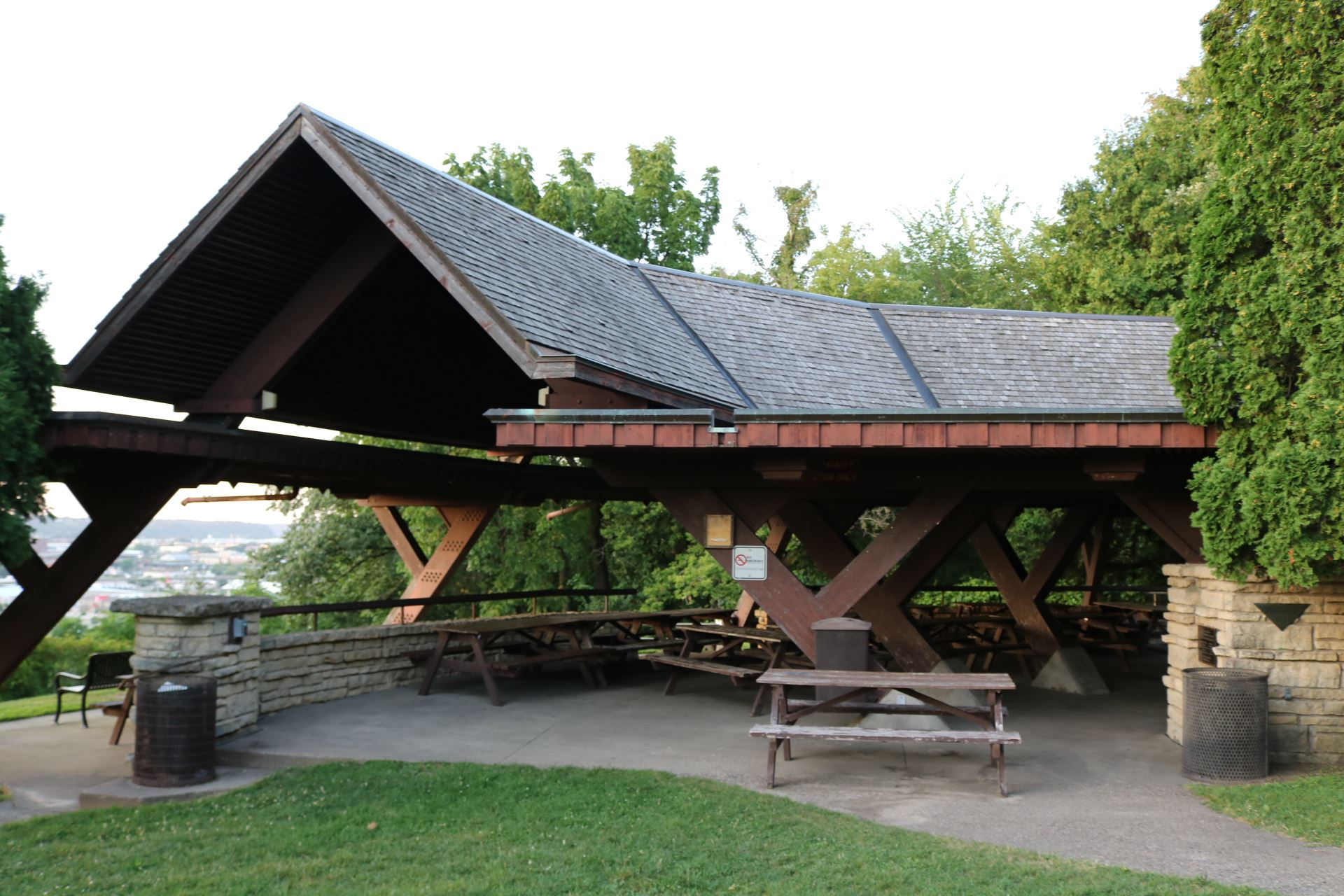 Bennett Pavilion seating: 126 people; $115.00. Handicapped accessible, 15 amp electricity, barbecue