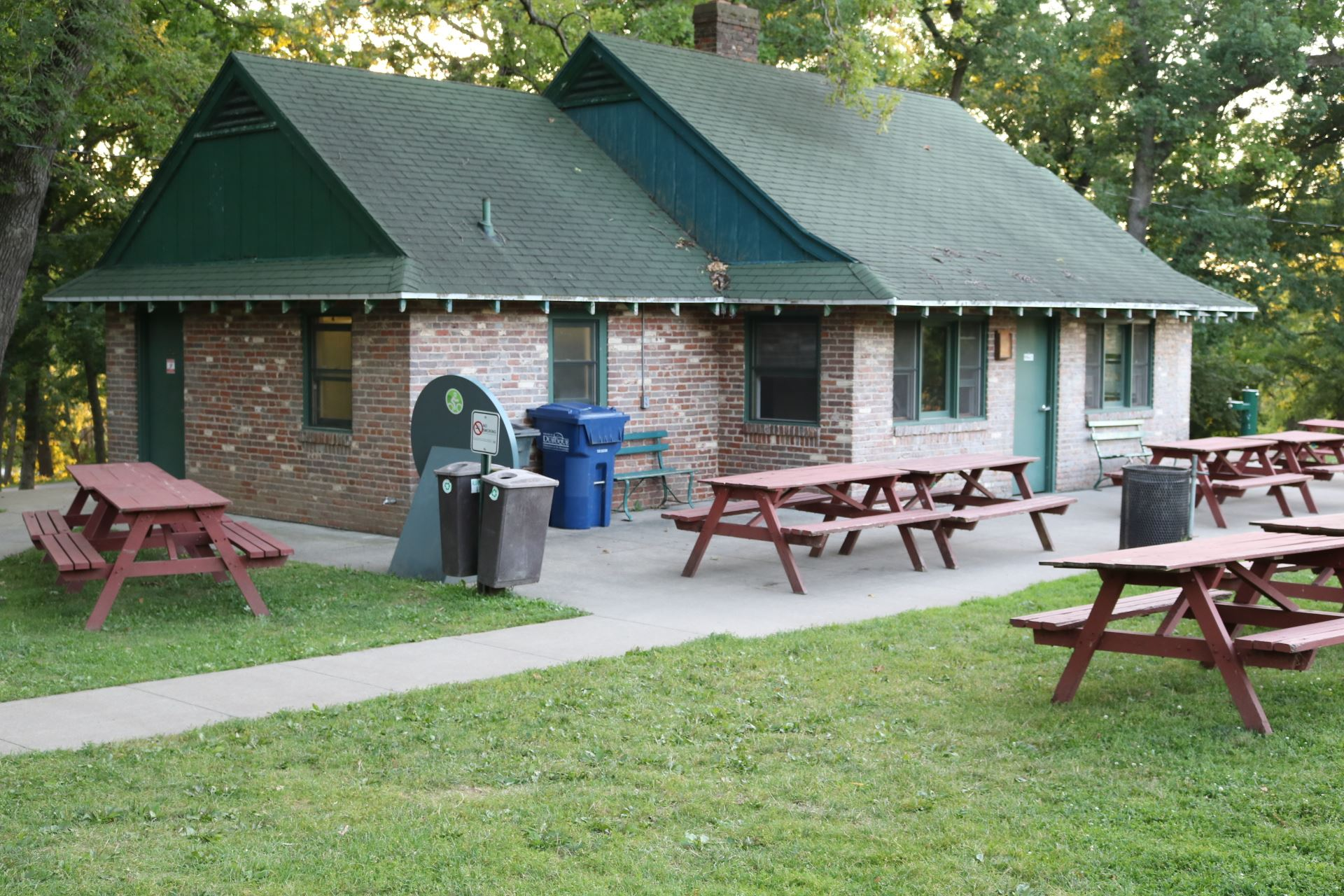 Furhman Enclosed Pavilion seating: 32 people; price: $35.00. Handicapped accessible, 15 amp electric
