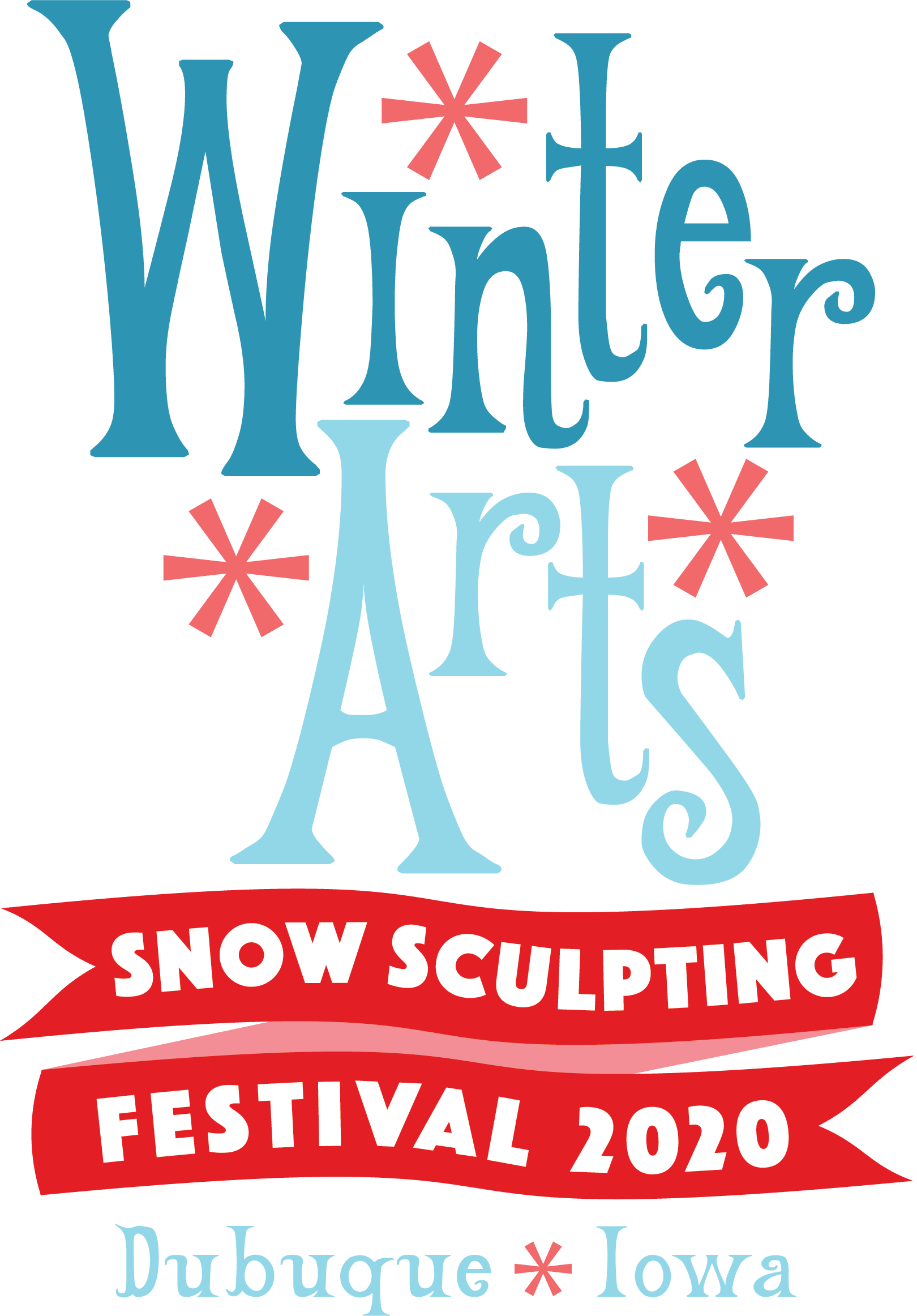 Winter Arts Snow Sculpting Festival logo from 2019