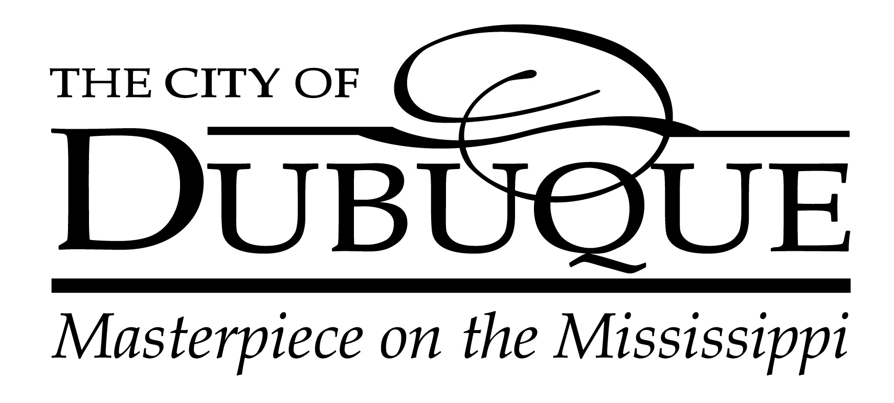Logo_City of Dubuque_black