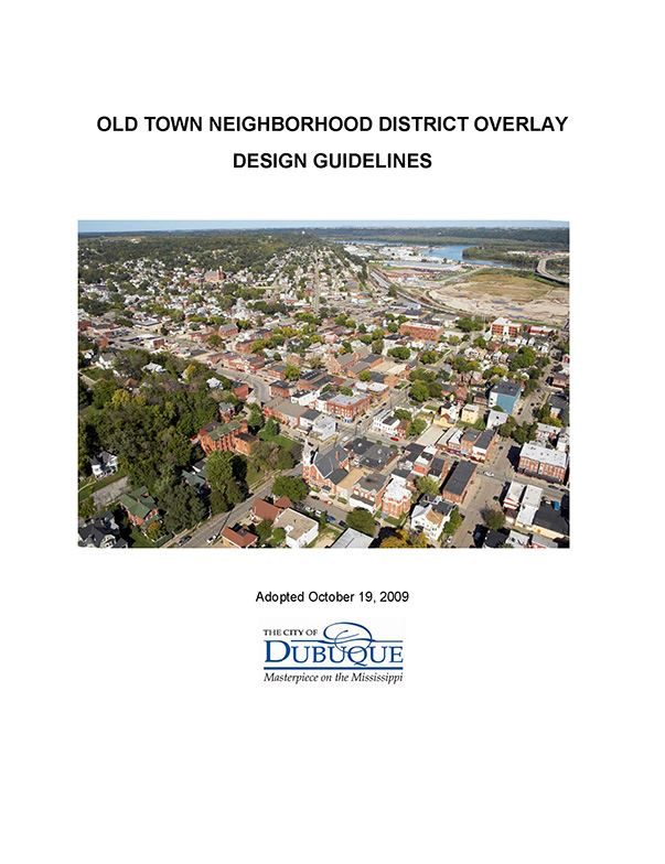 Old Town Neighborhood District Guidelines