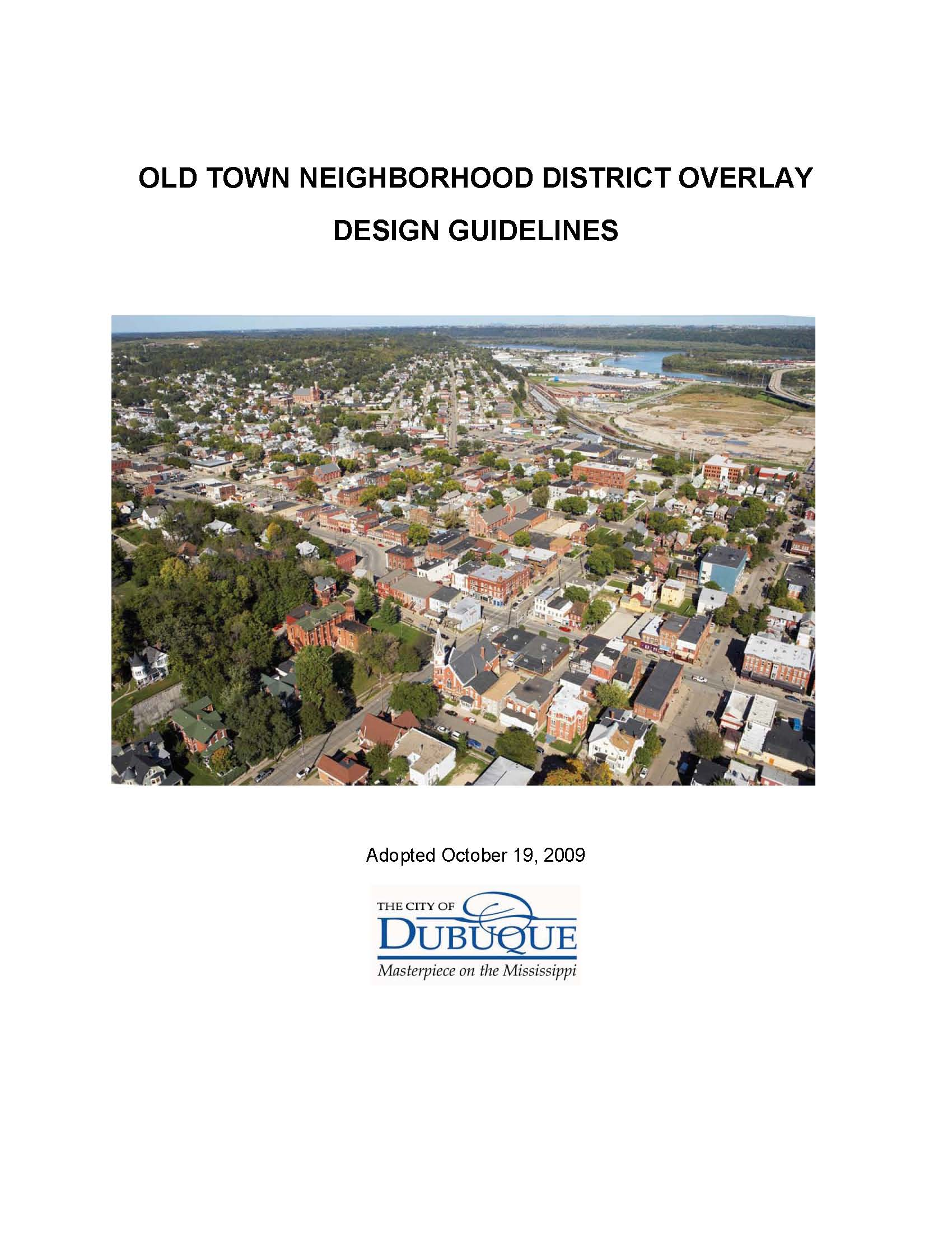 Old Town Neighborhood District Overlay Design Guidelines